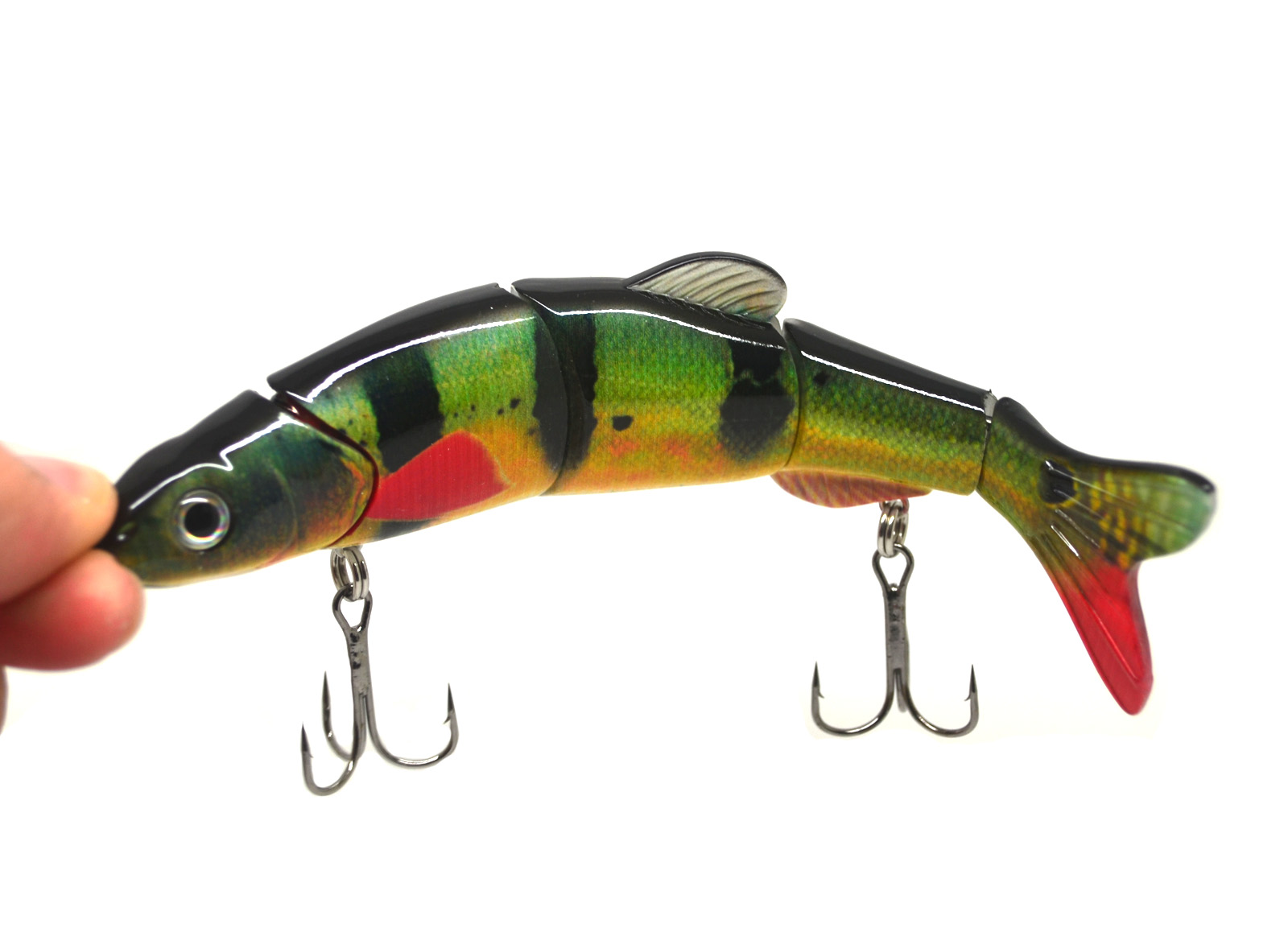 6 5 multi jointed bass pike muskie fishing lure bait for Musky fishing lures